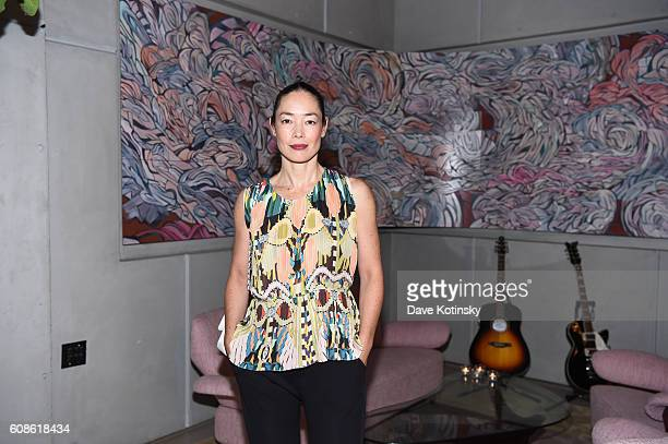 Cecilia Dean attends the Daniel Arsham Colorblind Artist In Full Color at Spring Place on September 19 2016 in New York City