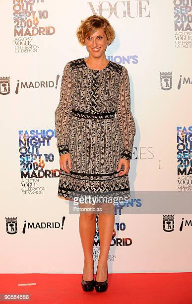 Cecilia Freire attends Fashion's Night Out on September 10 2009 in Madrid Spain