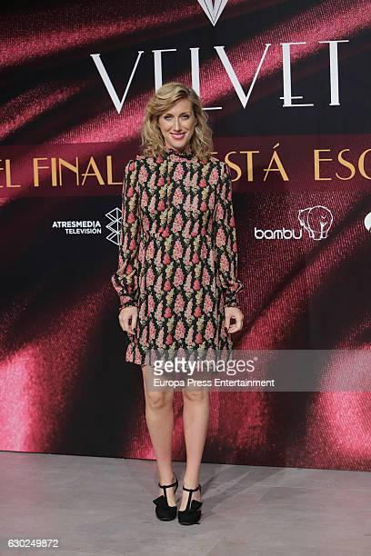 Cecilia Freire attends 'Galerias Velvet' Press Conference on December 19 2016 in Madrid Spain