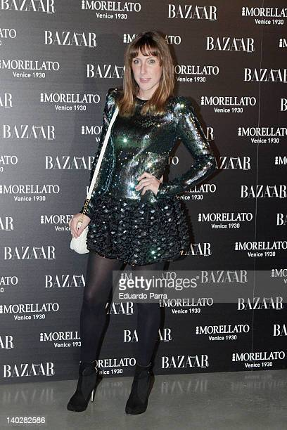 Cecilia Freire attends Harper's Bazaar magazine party photocall at Matadero Madrid on March 1 2012 in Madrid Spain