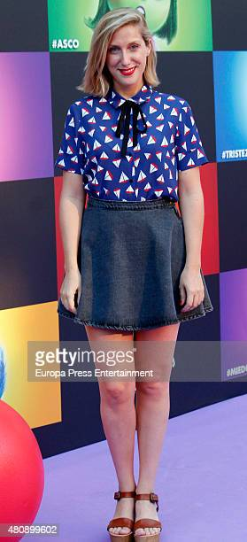 Cecilia Freire attends 'Inside Out' premiere on July 15 2015 in Madrid Spain