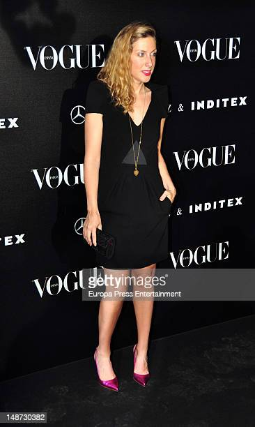 Cecilia Freire attends the 'Vogue Who's On Next' party photocall at Ortega Gasset Foundation on July 18 2012 in Madrid Spain
