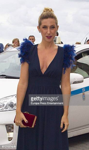 Cecilia Freire attends the wedding ceremony of Marta Hazas and Javier Veiga at Palacio de la Magdalena on October 1 2016 in Santander Spain
