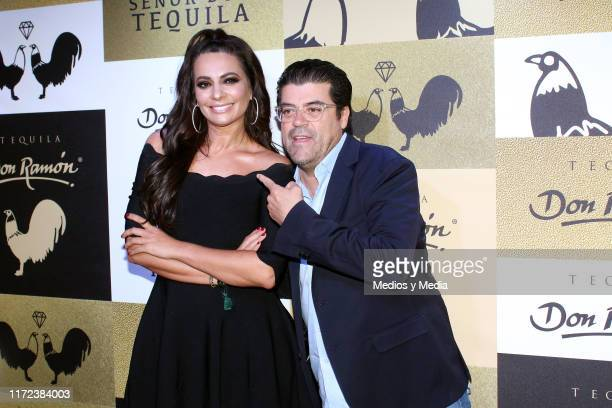 Cecilia Galliano and Jorge 'El Burro' Van Rankin poses for photos during the launching of 'Tequila Don Ramon' at Casa de la Bola on September 4 2019...