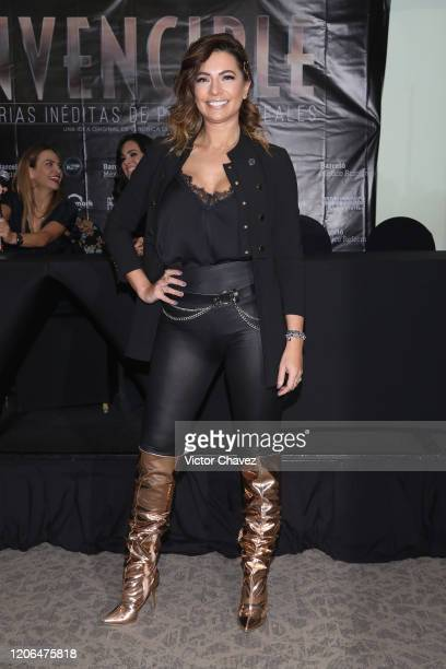 Cecilia Galliano attends a press conference to promote the play Invencible at Barcelo Reforma Hotel on March 10 2020 in Mexico City Mexico