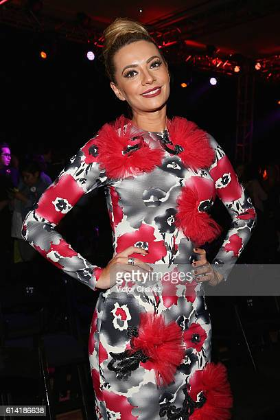 Cecilia Galliano attends the second day of MercedesBenz Fashion Week Mexico Spring/Summer 2017 at Maria Isabel Sheraton hotel on October 11 2016 in...