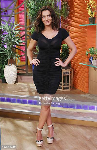 Cecilia Galliano is seen on the set of Despierta America at Univision Studios on October 13 2015 in Miami Florida