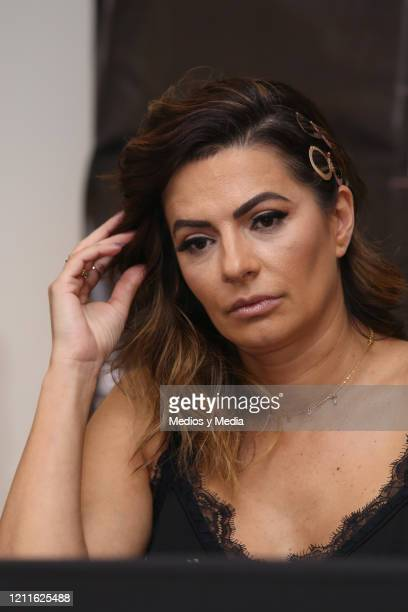 Cecilia Galliano looks on during a press conference at Barceló Reforma Hotel on March 10 2020 in Mexico City Mexico
