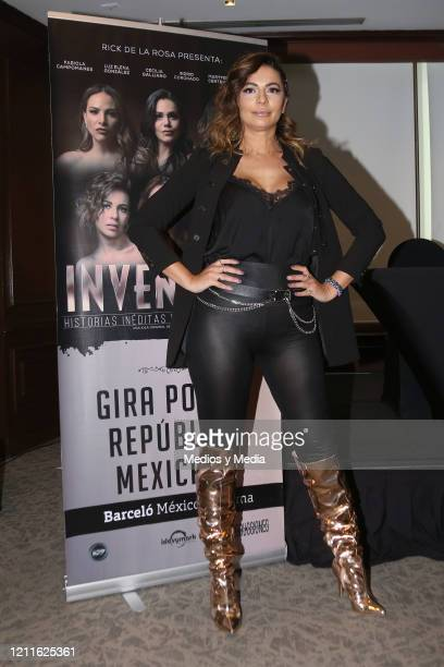 Cecilia Galliano poses for photos during a press conference at Barceló Reforma Hotel on March 10 2020 in Mexico City Mexico