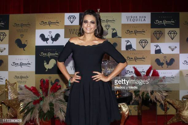 Cecilia Galliano poses for photos during the launching of 'Tequila Don Ramon' at Casa de la Bola on September 4 2019 in Mexico City Mexico