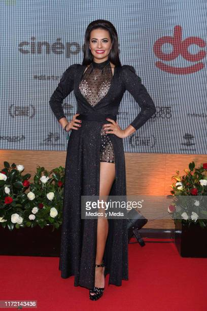 Cecilia Galliano poses for photos during the red carpet of the Festival Comedia en Corto 2019 at Cinepolis Plaza Carso on September 3 2019 in Mexico...