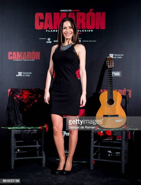 Cecilia Gomez attends 'Camaron Flamenco Y Revolucion' Madrid Premiere on May 31 2018 in Madrid Spain