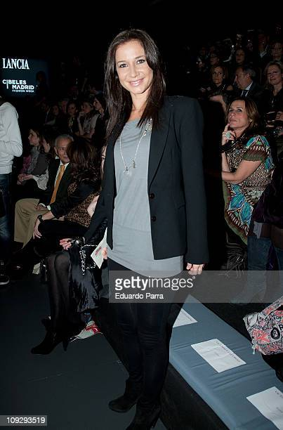 Cecilia Gomez attends the Victorio Lucchino fashion show during the Cibeles Madrid Fashion Week A/W 2011 at Ifema on February 19 2011 in Madrid Spain