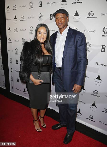 Cecilia Gutierrez and Byron Scott attend the TBoz Unplugged A Benefit Concert Sickle Cell Disease at Avalon on January 15 2017 in Hollywood California