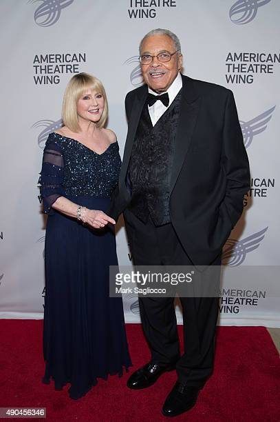 Cecilia Hart and James Earl Jones and Angela Lansbury attend the 2015 American Theatre Wing's Gala at The Plaza Hotel on September 28 2015 in New...