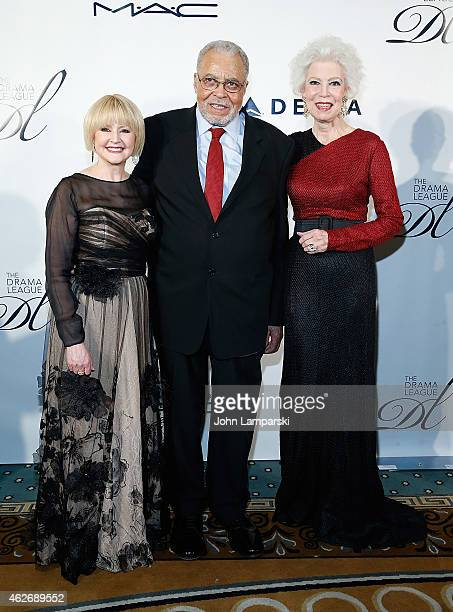 Cecilia Hart Jones Honoree James Earl Jones and Jano Herbosch attend The Drama League's 31st Annual Musical Celebration Of Broadway at The Pierre...