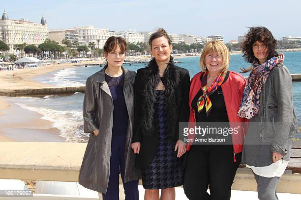 Cecilia Hornus Anne Girouard and Helene Seuzaret attend the Marseille photocall on April 9 2013 in Cannes France