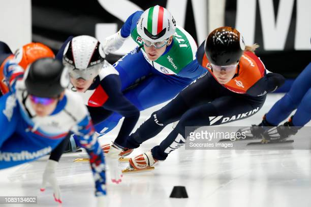 Cecilia Maffei of Italy during the ISU European Championship Shorttrack at the Sportboulevard Dordrecht on January 12 2019 in Dordrecht Netherlands