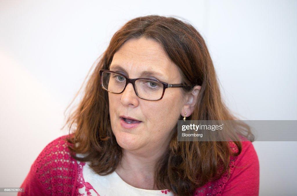 European Union  Trade Commissioner Cecilia Malmstrom Interview