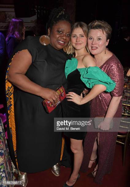 Cecilia Noble Ria Zmitrowicz and Monica Dolan attend the after party of the 65th Evening Standard Theatre Awards in association with Michael Kors at...
