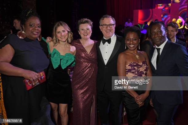Cecilia Noble Ria Zmitrowicz Monica Dolan David Ignatius and Natasha Gordon attend the after party of the 65th Evening Standard Theatre Awards in...
