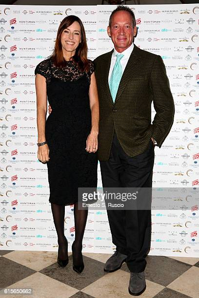 Cecilia Peck and Anthony Peck attend 'A Conversation With Gregory Peck' during the 11th Rome Film Festival at Auditorium Parco Della Musica on...