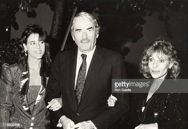 Cecilia Peck, Gregory Peck and Veronique Peck during Pro Peace Benefit Dinner at Bistro Restaurant in Beverly Hills, CA, United States.