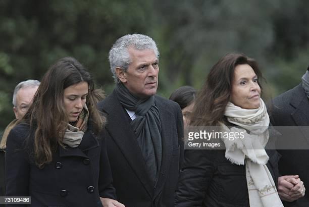 Cecilia Pirelli Marco Tronchetti Provera CEO of Pirelli and C Spa and his daughter Ilaria follow the coffin of Leopoldo Pirelli towards St George...