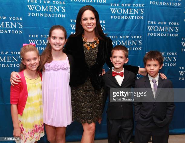 Cecilia Raymond Sofia Raymond Soledad O'Brien Charlie Raymond and Jackson Raymond attend New York Women's Foundation 25th Anniversary Celebration at...