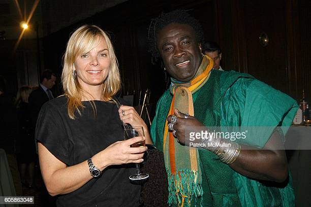 Cecilia Rodhe and Moko attend AFRICAN RAINFOREST CONSERVANCY Honors Lewis Lapham at the 15th Annual Gala at Gotham Hall on April 17 2006 in New York...