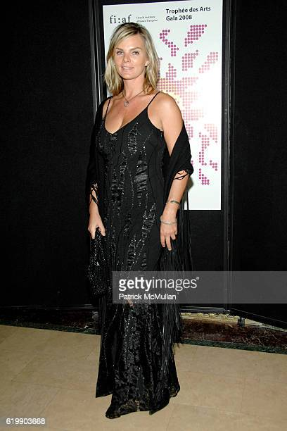 Cecilia Rodhe attends TROPHEE des ARTS FIAF 2008 Gala Honoring PHILIPPE de MONTEBELLO and JEANBERNARD LEVY at Plaza Hotel on October 29 2008 in New...