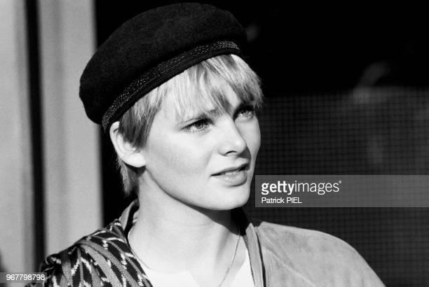 Cecilia Rodhe femme de yannick Noah lors d'une soirée à Hambourg le 13 mai 1984 Allemagne