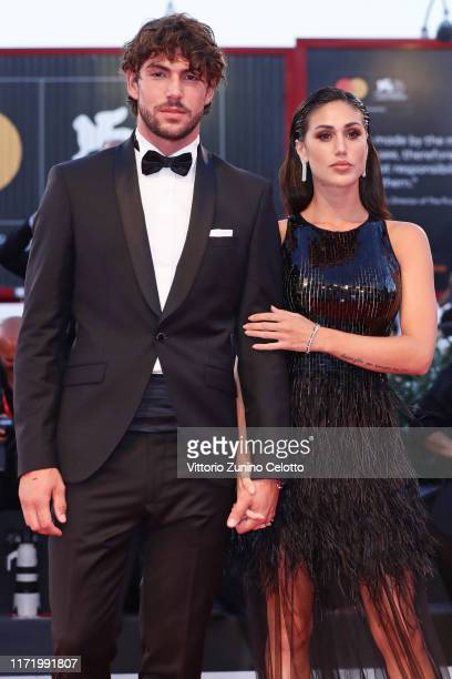 Cecilia Rodríguez and Ignazio Moser walk the red carpet ahead of the Om Det Oandliga screening during the 76th Venice Film Festival at Sala Grande on...