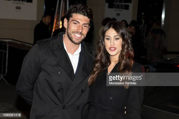 Cecilia Rodriguez and Ignazio Moser arrive at the GQ Best Dressed Men 2019 Party at the Teatro Vetra Milan January 11th 2019