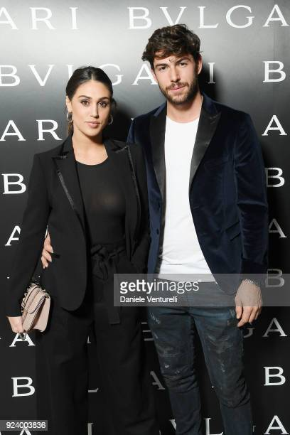 Cecilia Rodriguez and Ignazio Moser attend Bulgari FW 2018 Dinner Party on February 23 2018 in Milan Italy
