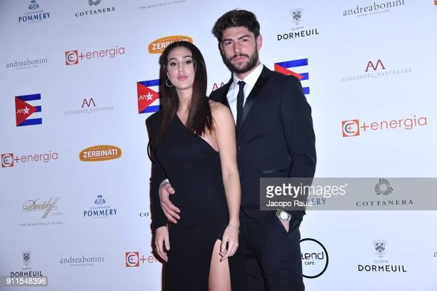 Cecilia Rodriguez and Ignazio Moser attend the Alessandro Martorana Party on January 28 2018 in Milan Italy