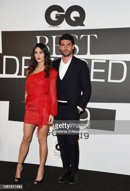Cecilia Rodriguez and Ignazio Moser attend the GQ Best Dressed Men 2019 during Milan Menswear Fashion Week Autumn/Winter 2019/20 on January 11 2019...