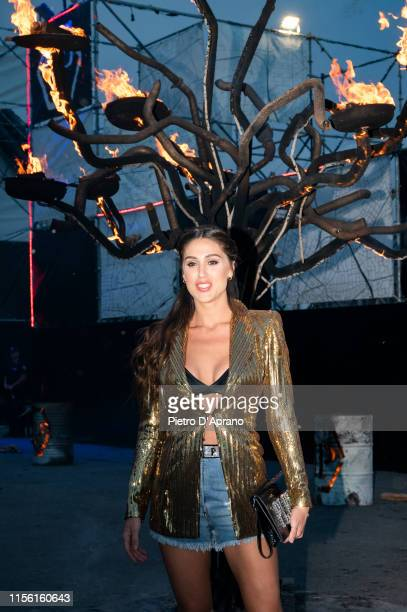 Cecilia Rodriguez arrives at the Philipp Plein fashion show during Milan Men's Fashion Week Spring/Summer 2020 on June 15 2019 in Milan Italy