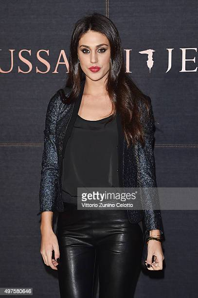 Cecilia Rodriguez attends a photocall for 'Trussardi Jeans Celebrates The New IT Bag' party on November 17 2015 in Milan Italy