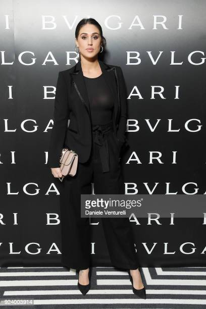 Cecilia Rodriguez attends Bulgari FW 2018 Dinner Party on February 23 2018 in Milan Italy