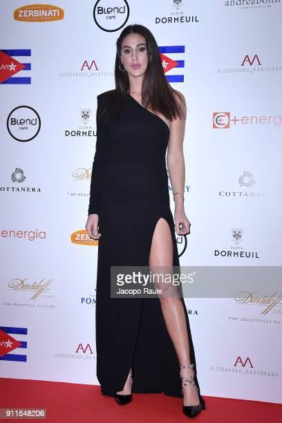 Cecilia Rodriguez attends the Alessandro Martorana Party on January 28 2018 in Milan Italy