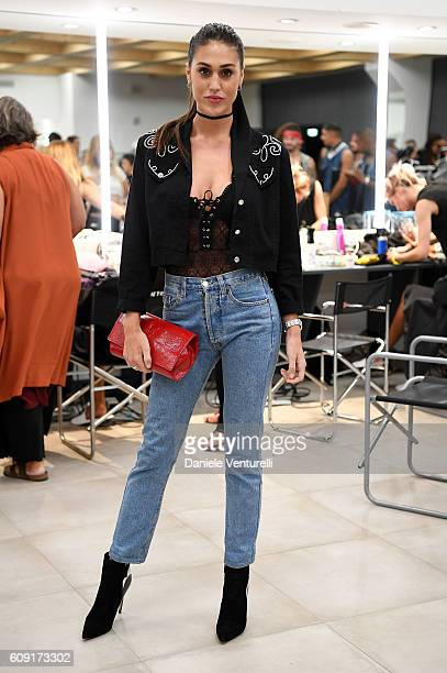 Cecilia Rodriguez attends the TEZENIS Fashion Show on September 20 2016 in Verona Italy