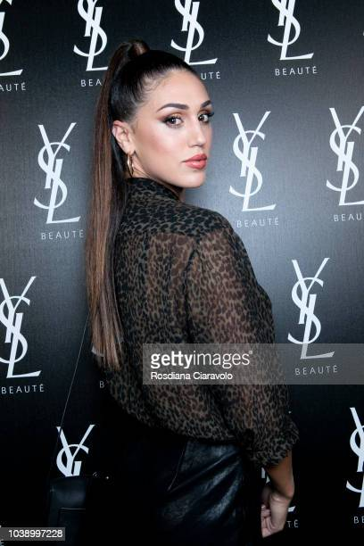 Cecilia Rodriguez attends Ysl Beauty Club Milan during Milan Fashion Week Spring/Summer 2019 on September 23 2018 in Milan Italy