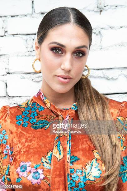 Cecilia Rodriguez is seen backstage ahead of the Aniye By Fashion Show SS19 on July 16 2018 in Milan Italy