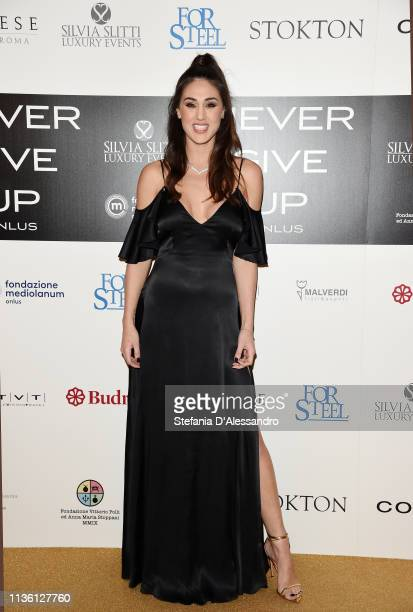 Cecilia Rodriguez is seen on red carpet of Never Give Up Onlus on March 15 2019 in Milan Italy