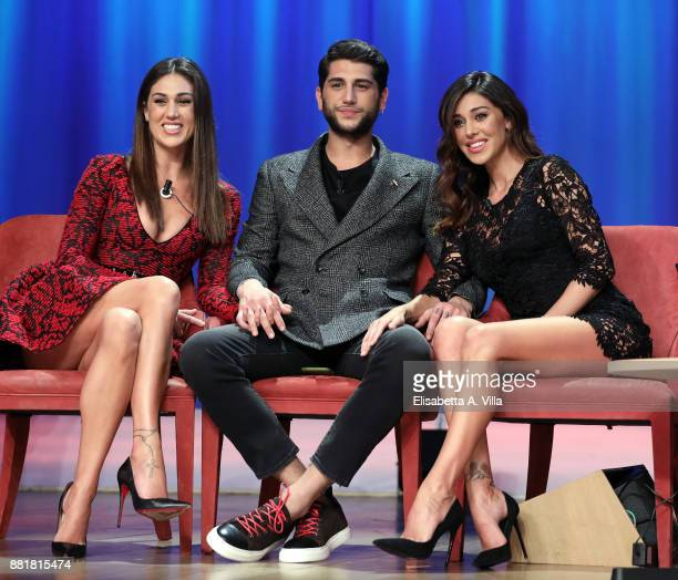 Cecilia Rodriguez Jeremias Rodriguez and Belen Rodriguez attend 'Maurizio Costanzo Show' on November 29 2017 in Rome Italy