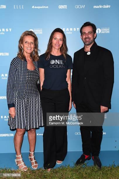 Cecilia Rossi Anne de Carbuccia Stéphane Gerschel attend One Ocean at Venice Film Festival on September 4 2018 in Venice Italy