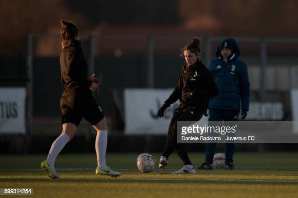 Cecilia Salvai during a Juventus women training session at Juventus Center Vinovo on December 28 2017 in Vinovo Italy
