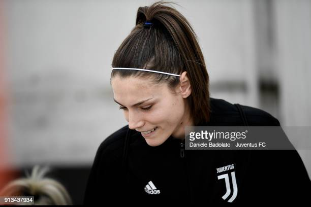 Cecilia Salvai during a Juventus Women training session on February 2 2018 in Turin Italy