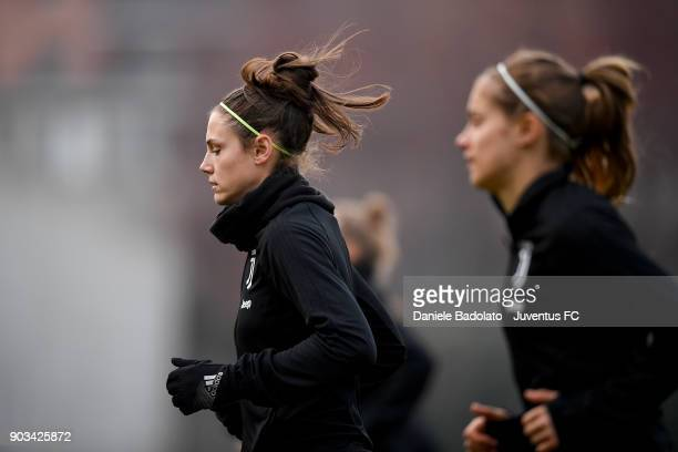 Cecilia Salvai during a Juventus Women training session on January 10 2018 in Turin Italy